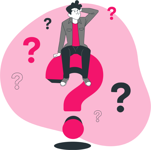 cómo elegir una VPN: usuario rodeado de signos de interrogación