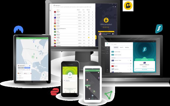 as melhores vpns em telas de múltiplos dispositivos