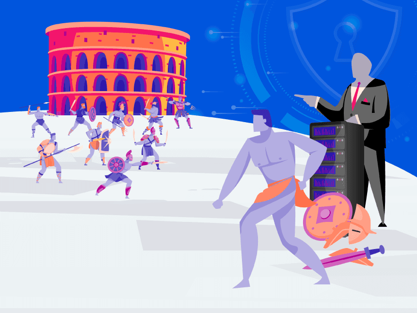 vpn blocking how to bypass vpn blocks: illustrative image of a gladiator taking off armor and weapons before entering the arena